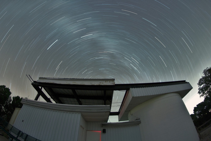 Milky Star Trails over ROR