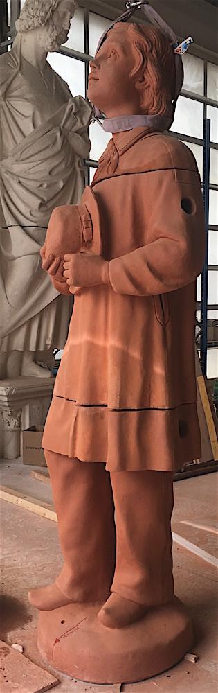Assemblage des statues © Atelier Bouvier
