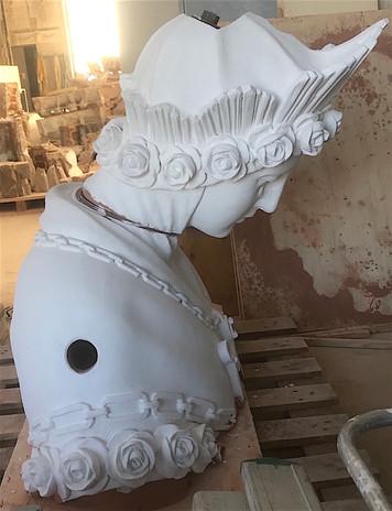 Mise en peinture des statues © Atelier Bouvier