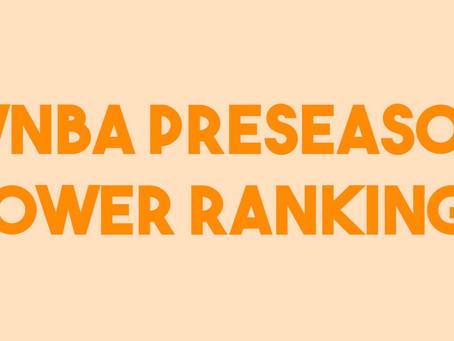 WNBA Preseason Power Rankings
