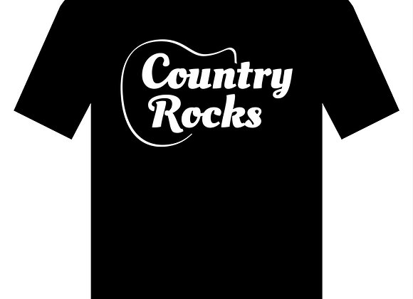 Members Country Rocks T Shirt Womens V Neck