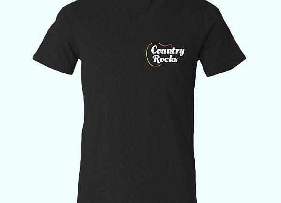 Members Country Rocks Black Embroidered Logo Mens