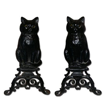 1910 Black Cats with Glass Eyes