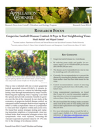 Grapevine Leafroll Disease Control: It pays to Test Neighboring Vines
