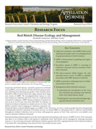 Red Blotch Disease Ecology and Management