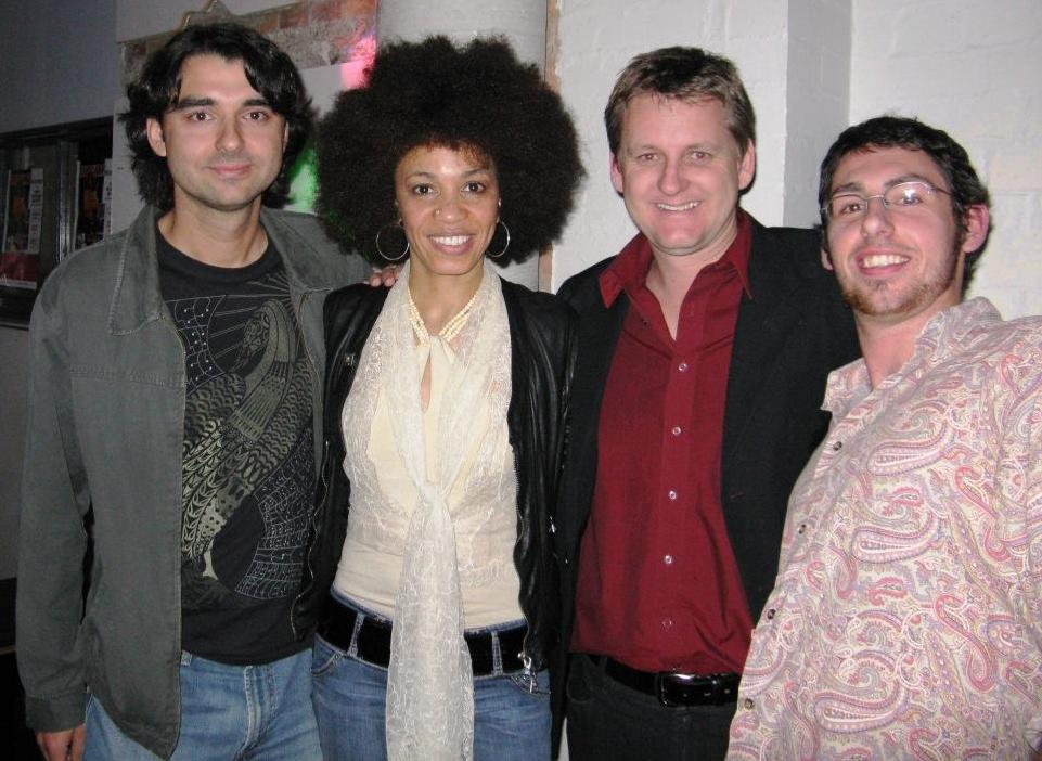 with Cindy Blackman, Mark and Aaron