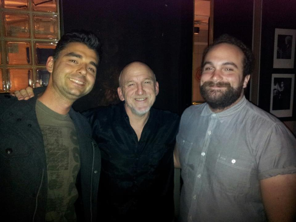 With Adam Nussbaum and Mikey.
