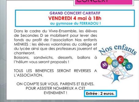 Concert caritatif 4 mai 2018 - 18h Blagnac