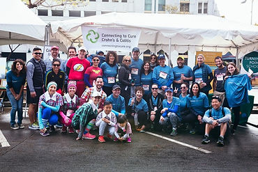 Runners and volunteers at the Screenland 5k event