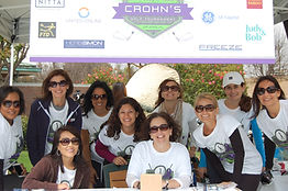 Volunteers at the 5k challenge, an event Connecting to Cure Crohn's and Colitis partnered with the Screenland in Culver City.