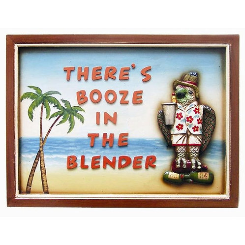 Booze In the Blender Wall Decor