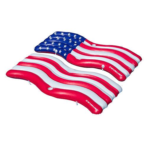 Americana Flag Connector Mat Set