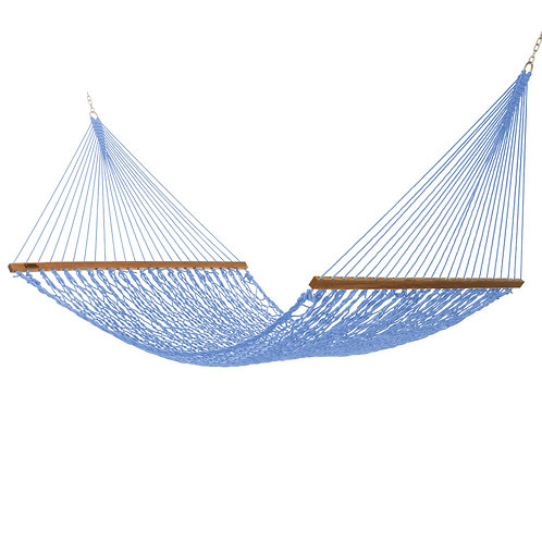 LARGE ORIGINAL DURACORD ROPE HAMMOCK-COASTAL BLUE