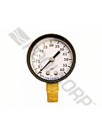2IN 0-60PSI 0.25IN BTM MOUNT STEEL PRESSURE GAUGE
