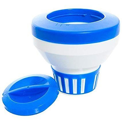 PS690 BLUE/WHITE DELUXE FLOATING CHEMICAL FEEDER