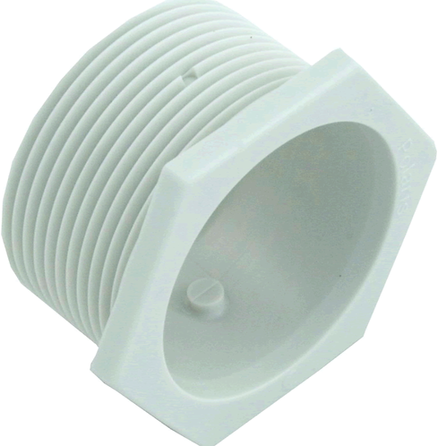 6-500-00 WHITE UNIVERSAL WALL FITTING