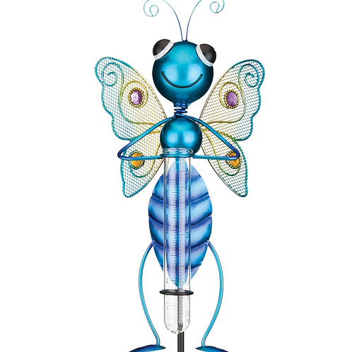 BLUE BUTTERFLY RAIN GAUGE