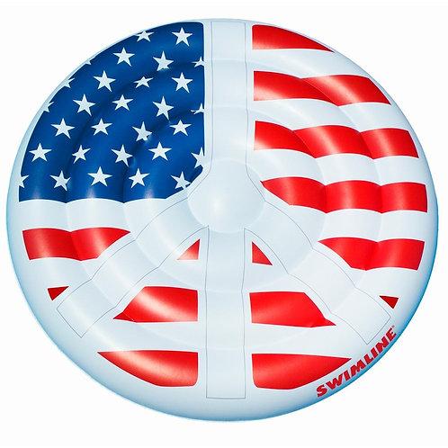 Americana Peace Sign Island Float