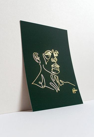 Barnaby - Foil Postcard