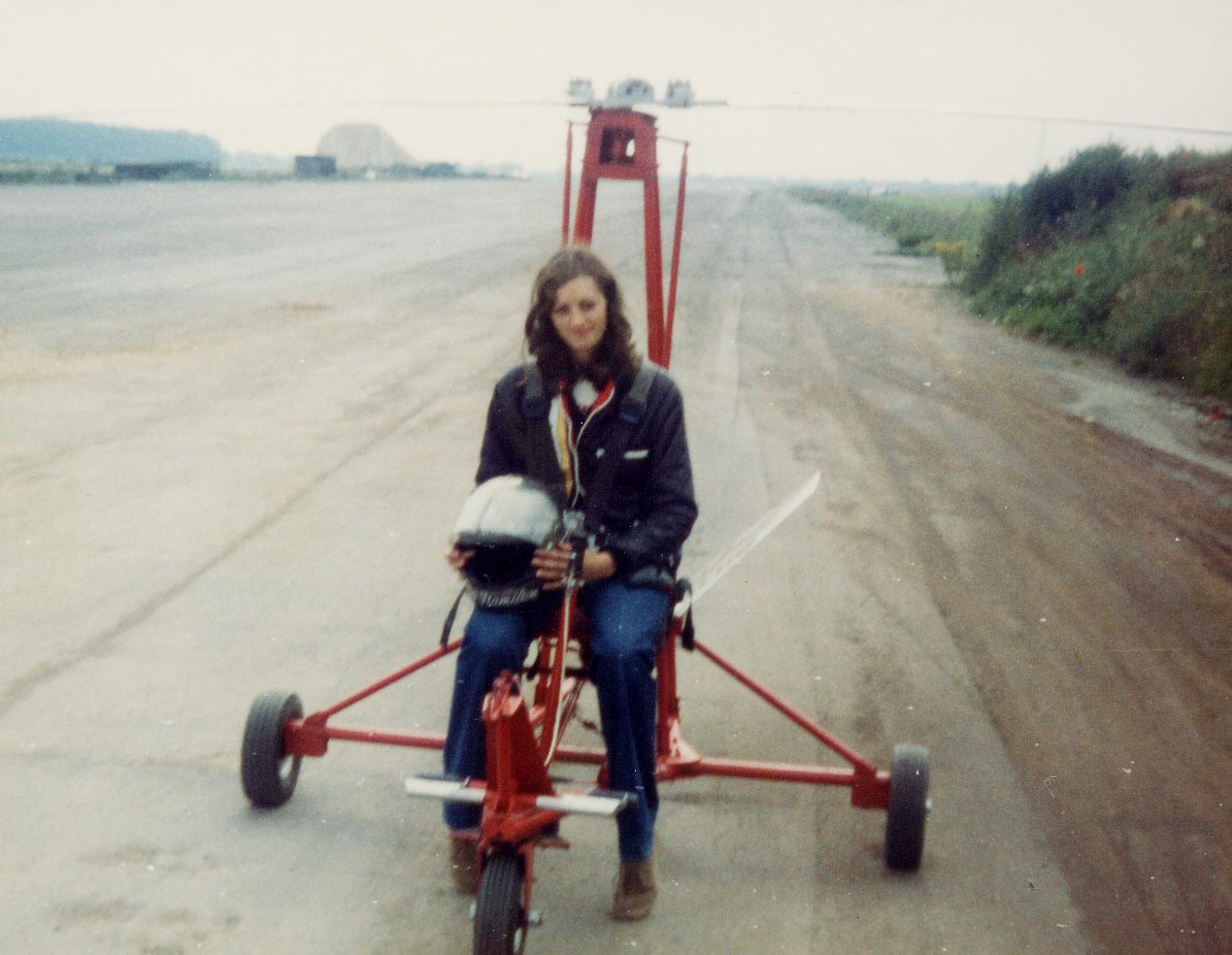 Carol on the Gyro Glider