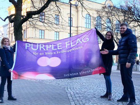 KARLSTAD- EN PURPLE FLAG CERTIFIERAD STAD!