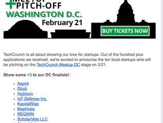 MapHubs is a Finalist at TechCrunch DC