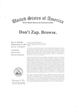 Don't Zap. Browse.