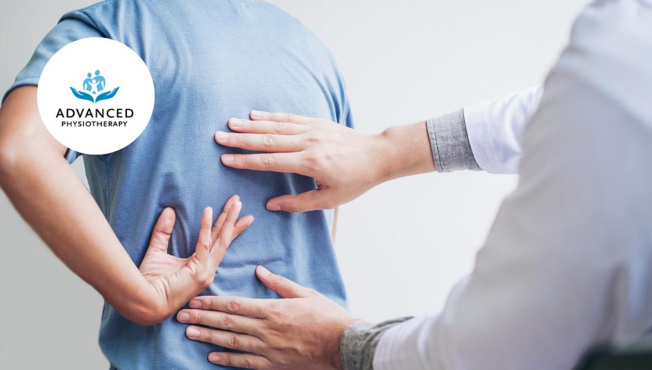 physiotherapist treating back pain