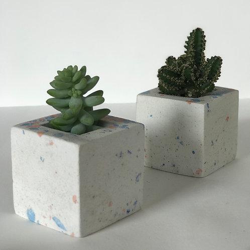Vasos terrazzo cubo