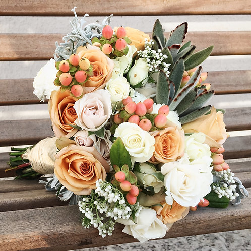 Buquê de Noiva com Suculentas - Rose Garden