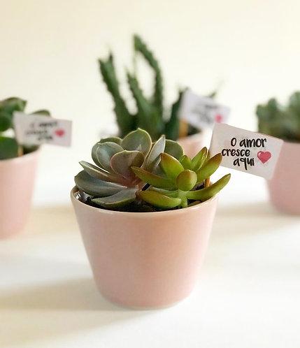 5 Vasinho de porcelana rosa