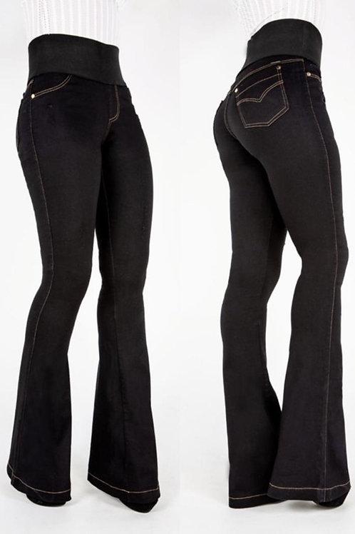 Calça Jeans Black Flare  Em Até 3x R$ 95,73
