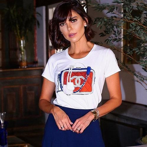 Blusa Bolsa Chanel        Em Até 3x R$ 71,73
