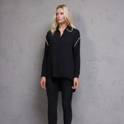 Blusa Camisa com Pérolas Em Até 3x R$ 167,73