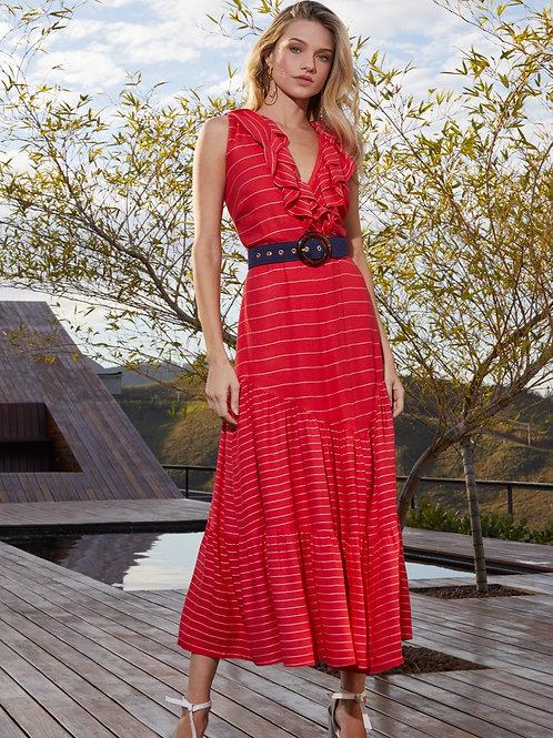 Vestido Nave Detalhe Cinto Em Até 3x R$ 161,20