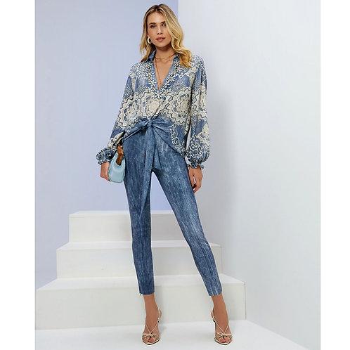 Calça Malha Jeans Em Até 3x R$ 239,66