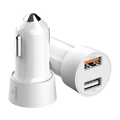 CTRONIQ Vimba CC12 Car Charger,Quick Charge QC3.0, Dual USB Port, LED Indicator