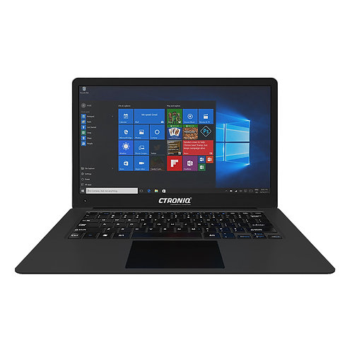 Ctroniq N14B Notebook PC - Win 10 - Intel Cherrytrail, Black