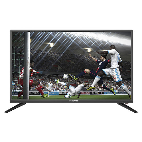 "Ctroniq 32"" HD LED TV, ATV, 3D NR, 2 HDMI, 2 USB, PC Port, Black"