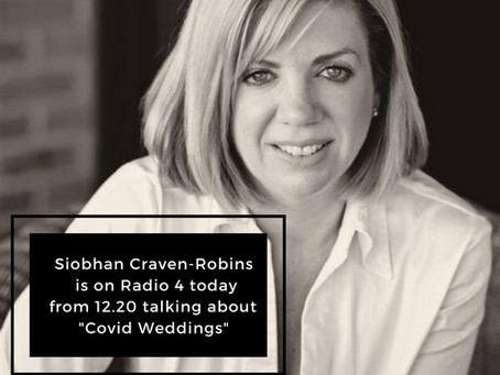 "Lead Wedding Planning Facilitator, Siobhan, is on Radio 4 Today, Speaking about ""Covid Weddings"""