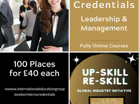 New Leadership MicroCredentials - with the London International Education Group