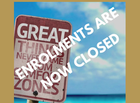 Enrolments are Now Closed on our Virtual Summer Term Courses