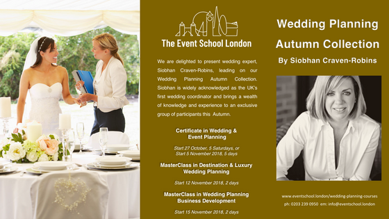 Wedding & Event Planning-Autumn Collection Enrolling Now.
