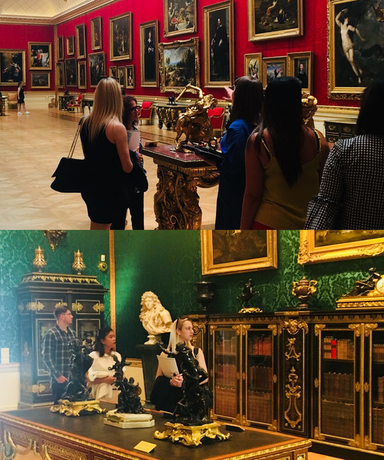 Summer school event students tour the Wallace Collection Event Space