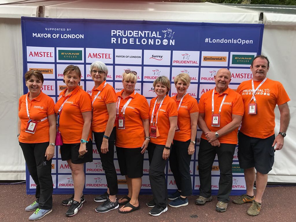 Petta and her team for the Prudential Rode London event
