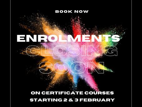 Enrolments Closing Soon on Virtual Certificate Courses