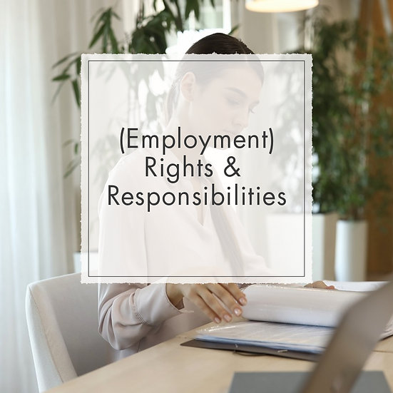 Rights and Responsibilities - MicroCredential, Fully Online Course