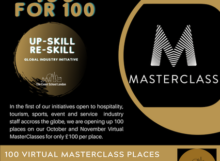 100 for £100 MasterClass Initiative Launches Today offering Subsidised Places for our Industries.