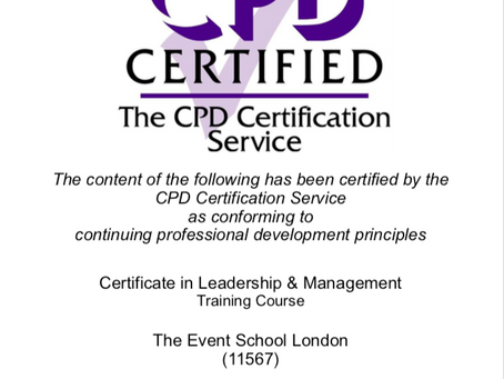 Now CPD Certified! Our Certificate in Leadership and Management Course.