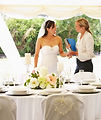 Bride With Wedding Planner In Marquee.jp